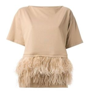 No. 21 Ostrich Feathered Top